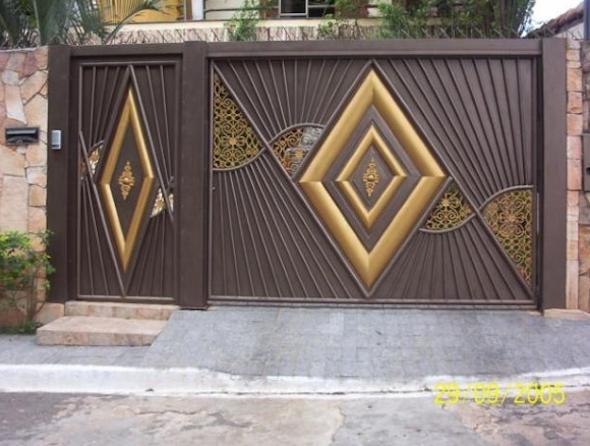 Well-known Modelos de portões eletrônicos7 | Fachada / Portas / Portões  OP85
