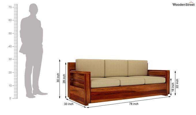 Buy Marriott 3 Seater Wooden Sofa Honey Finish Online In India In 2020 Living Room Sofa Design Wooden Sofa Sofa Design