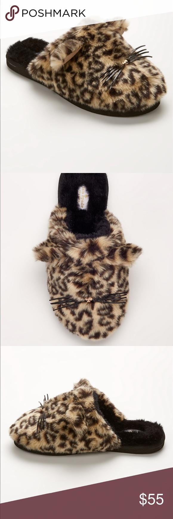 47b23d33f7eb Kate Spade Belinda faux fur cat slippers -7 Brand new. No box Kate Spade