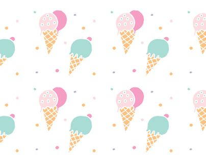 """Check out new work on my @Behance portfolio: """"Ice Cream Free Pattern"""" http://on.be.net/1SKLO6z"""