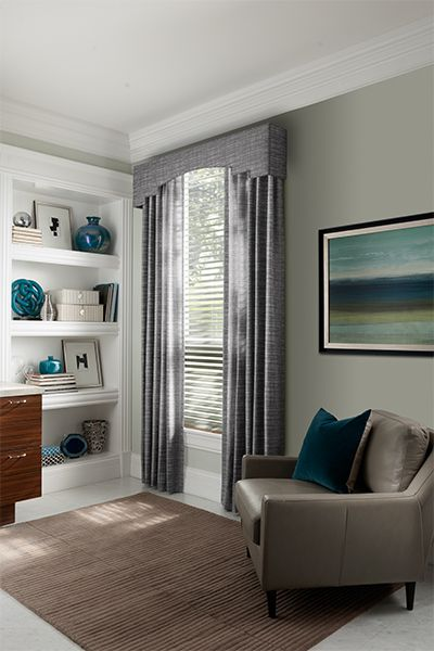 Sorenta Gray Fabric Blinds By Graber Home Decorator Idea