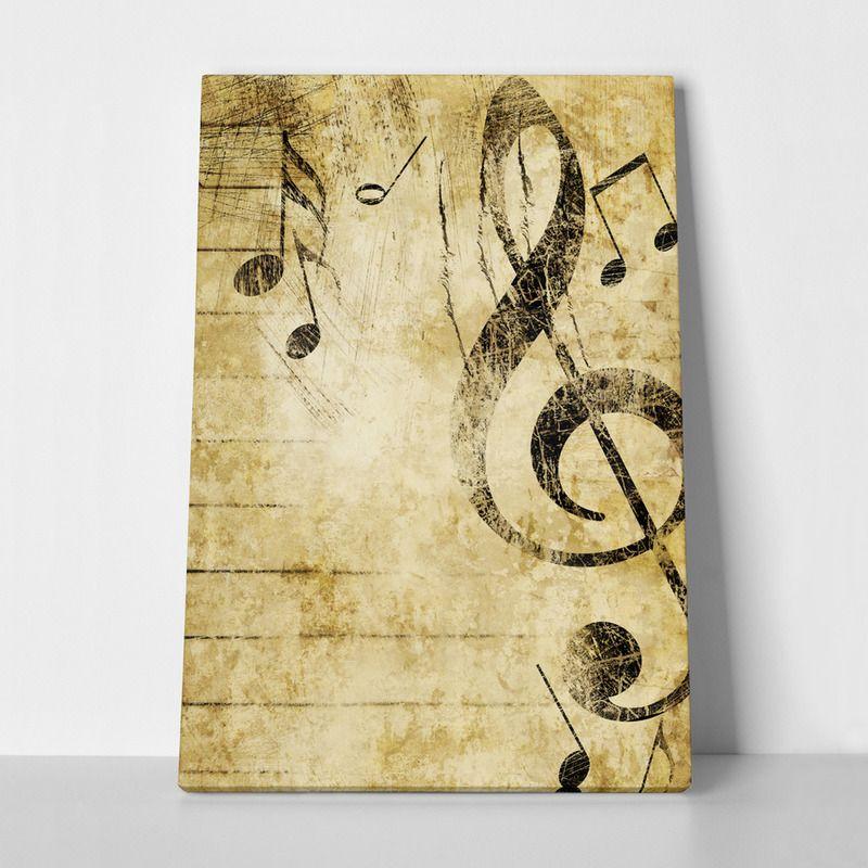 Canvas print GRUNGE MUSIC by Sticky!!!   RECTANGULAR CANVAS ...