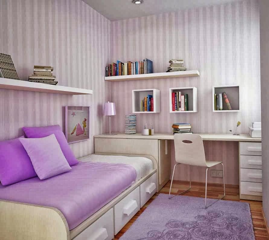 gambar desain kamar tidur anak perempuan dengan furniture keren | Jaaru