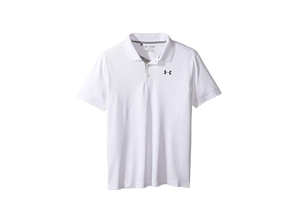 e461f6199 Under Armour Kids Performance Polo (Big Kids) (White True Gray Heather)  Boy s Clothing. In golf a bad outfit is worse than a bad swing.