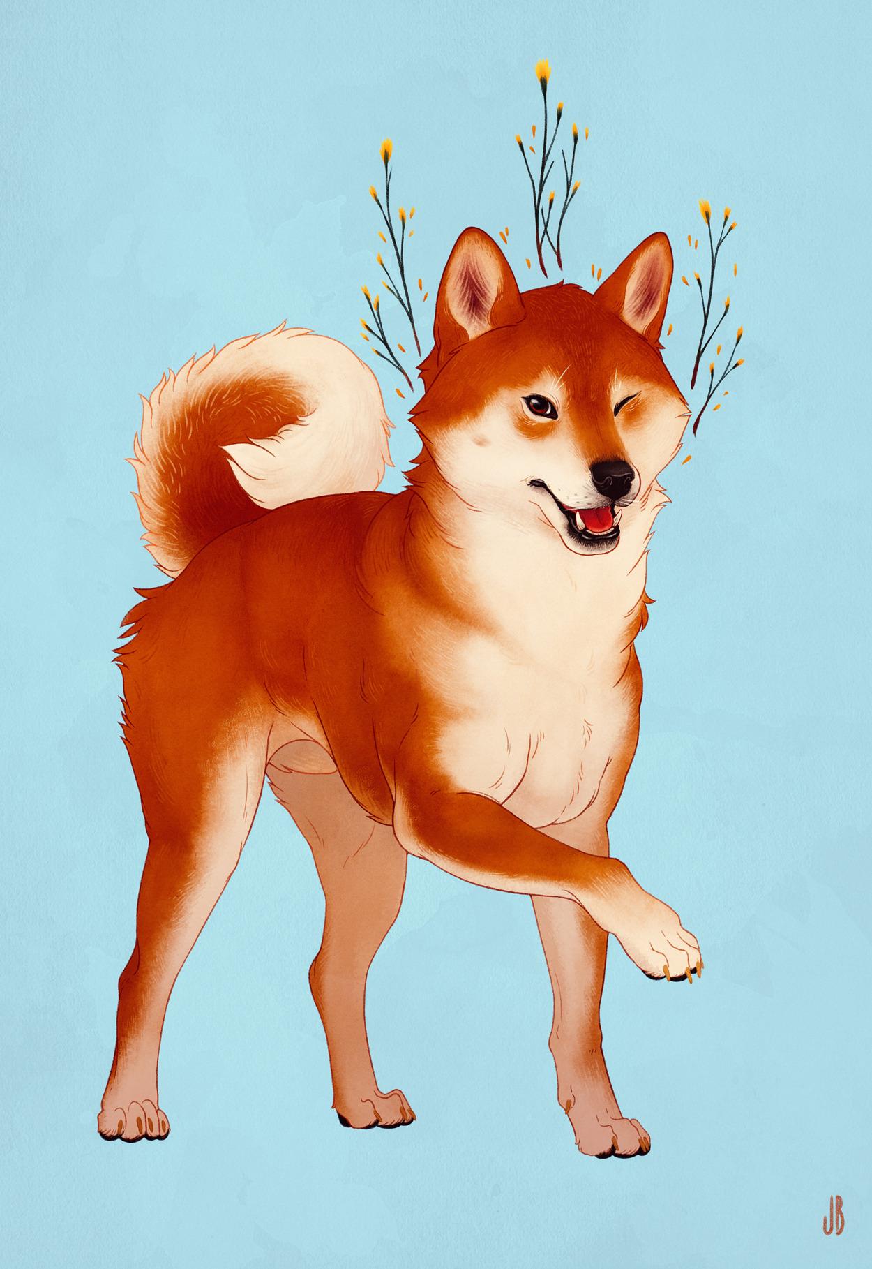 Luck Bringer Born From The Summer Sky Sky Summer Sky In 2020 Puppy Art Dog Art Cute Drawings