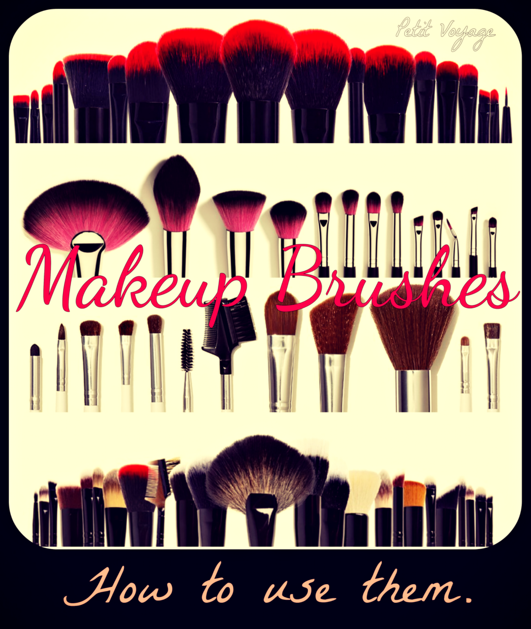 MAKEUP BRUSHES How to identify them & use correctly.