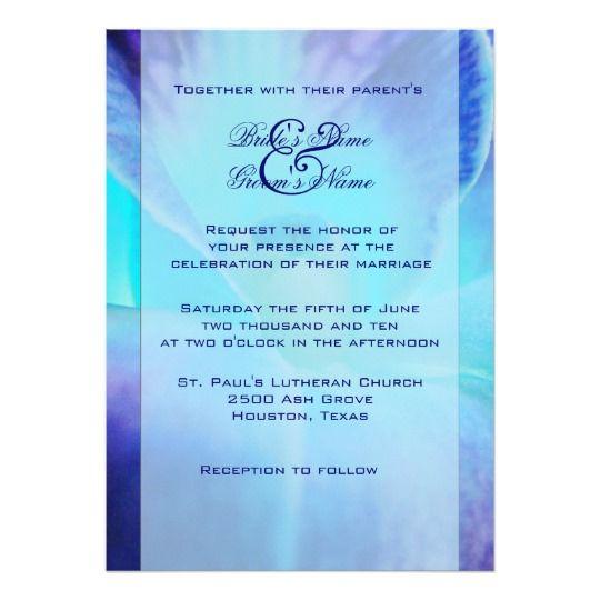 Blue orchid wedding invitation orchid wedding invitations and wedding blue orchid wedding invitation stopboris Images