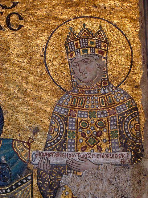 Empress Zoe from the Hagia Sophia. C. 1042