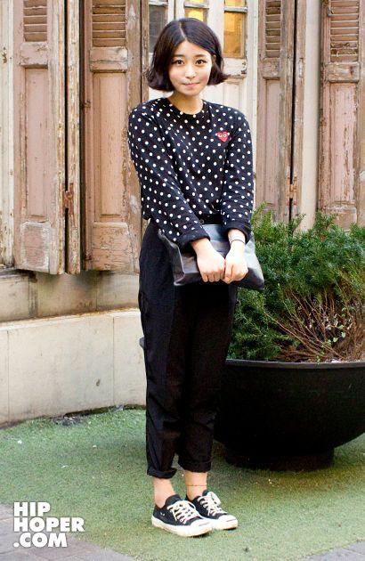 街拍日本潮女 秋季最愛是褲裝