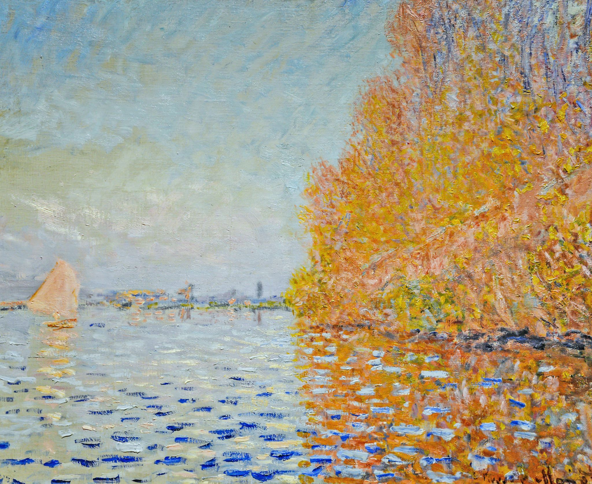 W 331 Claude Monet Argenteuil Basin With A Single Sailboat 1874