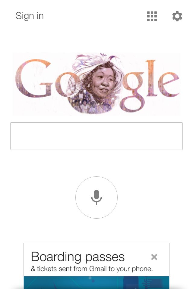 Wonderful start to the day.  Dorothy Height appears in Google's main search bar.