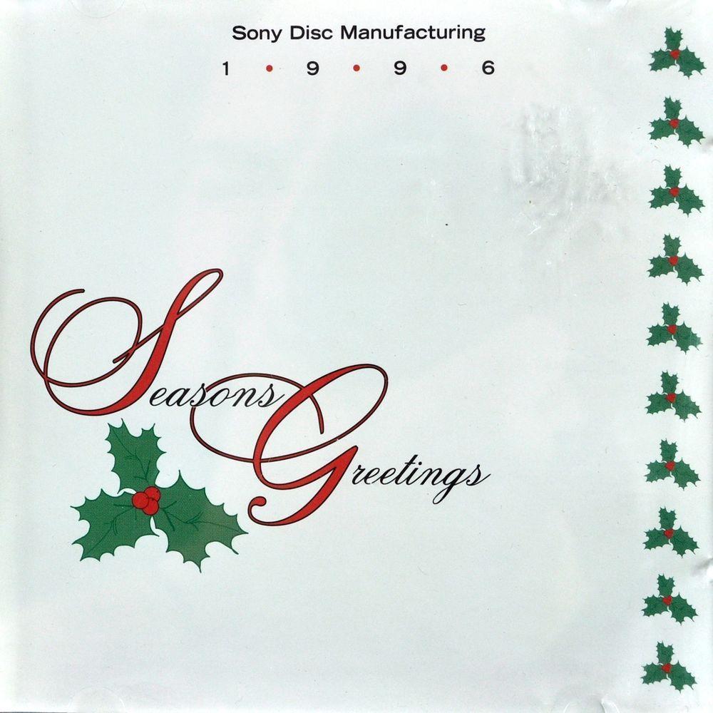 Sony Disc Manufacturing Seasons Greetings 1996 Christmas Thanks Cd v/a Promo #Christmas