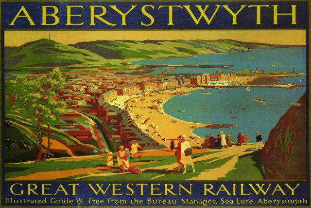 1950/'s British Railways Porthcawl Coney Beach Railway Poster  A2 Reprint