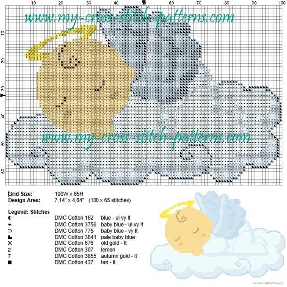 Baby angel cross stitch pattern | Cross stitch patterns english site ...