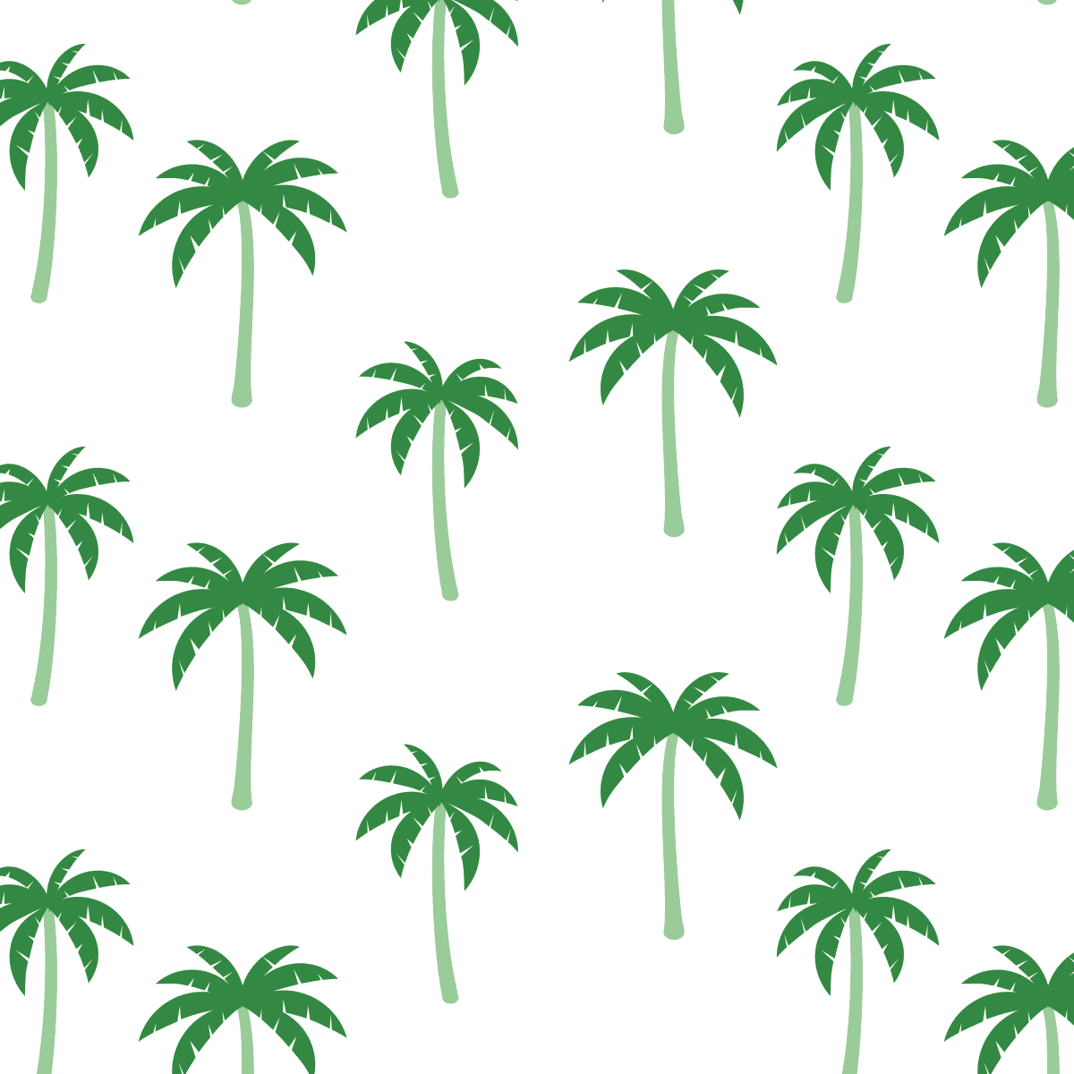 Original paper card palmtree illustration tropical pattern