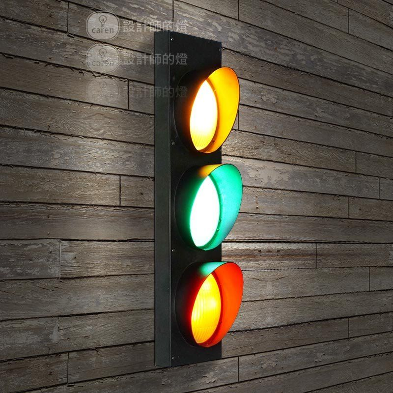 Retro Wrought Iron Traffic Lights Wall Lamps Vintage Industrial Wall Lights Kid Room Vintage Industrial Wall Light Industrial Wall Lights Industrial Wall Lamp