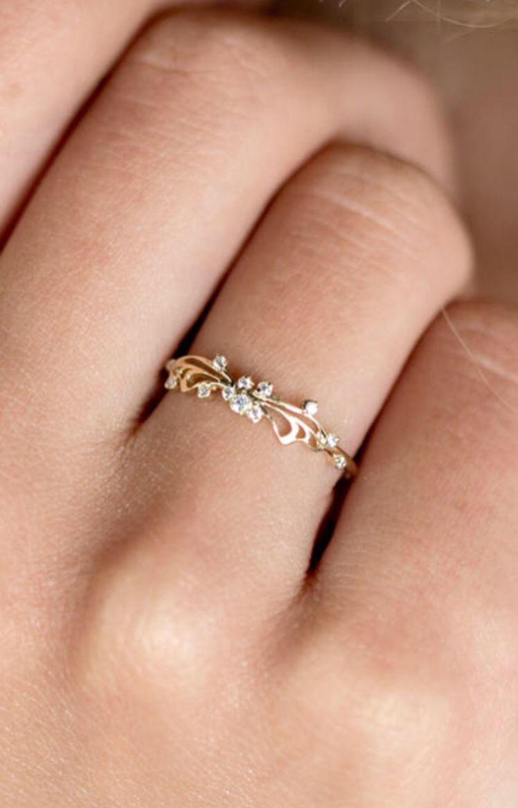 5b8bdcda3952be Delicate Gold & Diamond Butterfly Ring | MelanieCaseyJewelry on Etsy ...