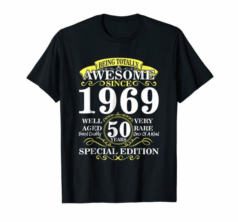 50th birthday gift t shirt 1969 classic rock legend shirt