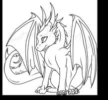 Baby Dragon Lineart By Sweetsasu Easy Dragon Drawings Dragon Coloring Page Cute Dragon Drawing