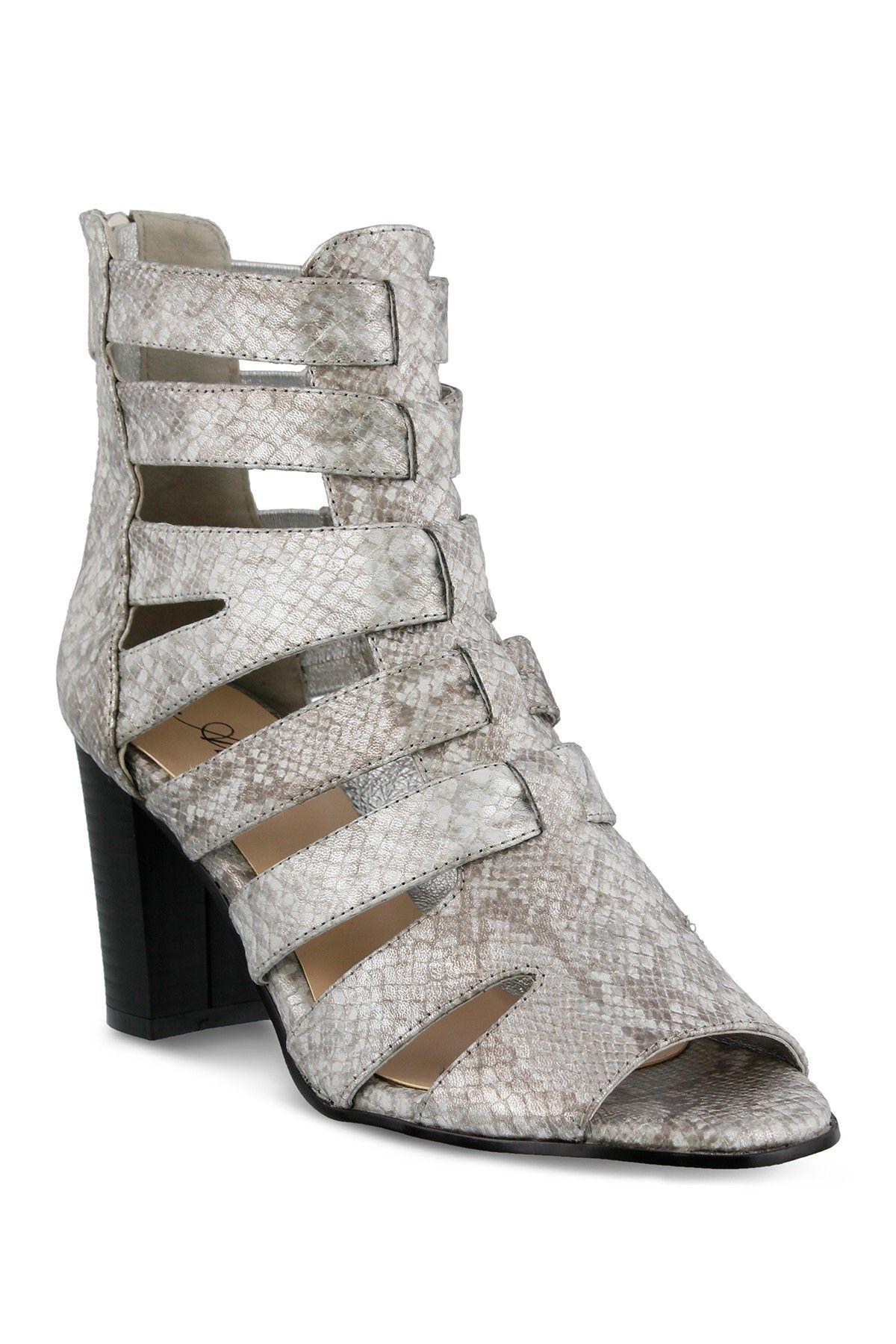 2fee665ff448 AZURA Quidam Python Printed Gladiator Heel Sandal