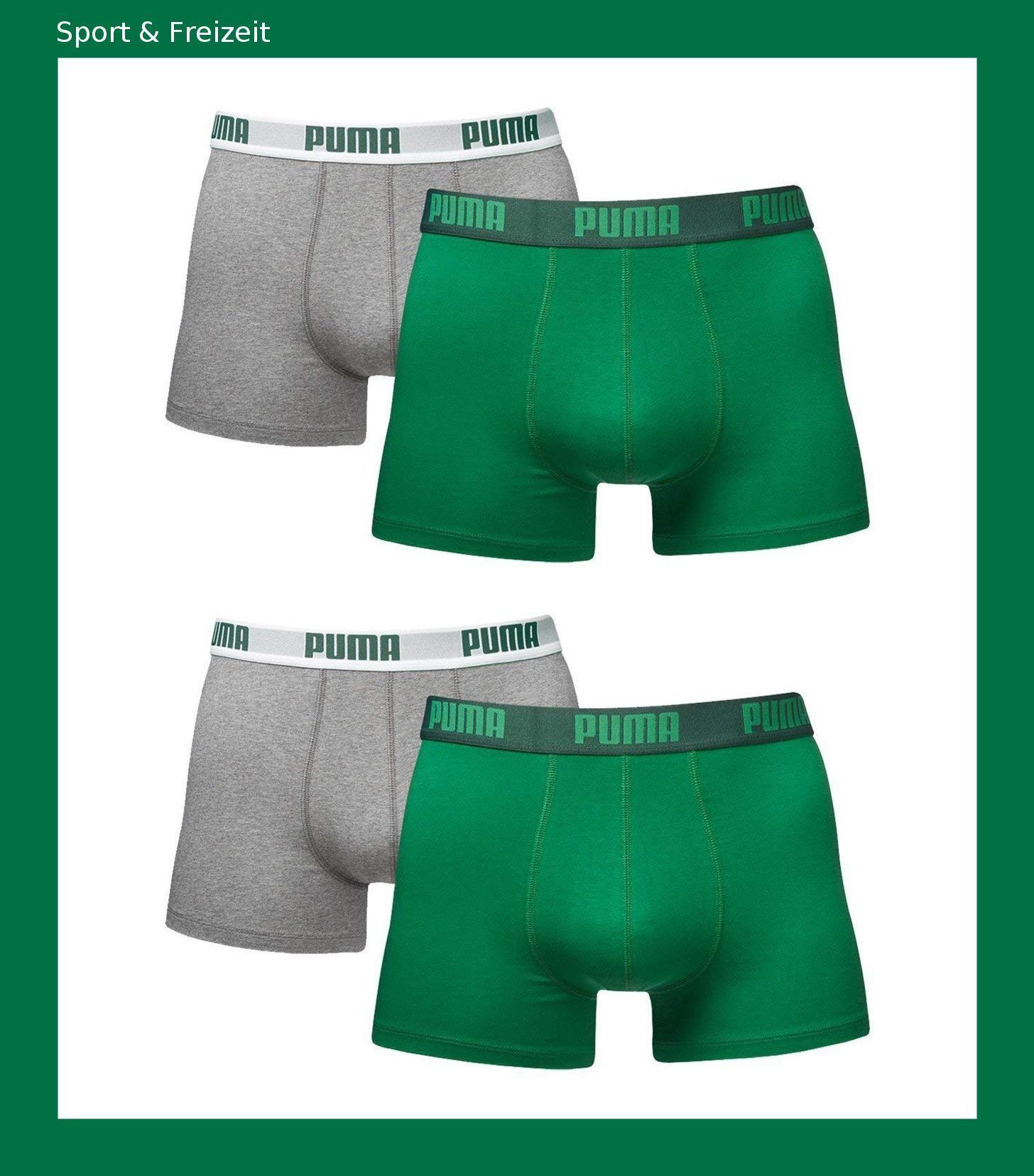 2959ce5e63 Puma Herren Boxer Basic Unterhosen 4er Pack in verschiedenen Farben  521015001