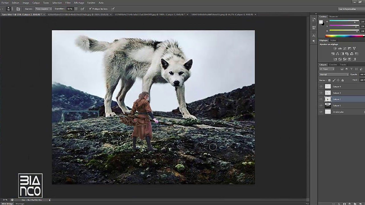سلسلة فن دمج الصور 03 تصميم خلفية خيالية Photoshop Art Youtube