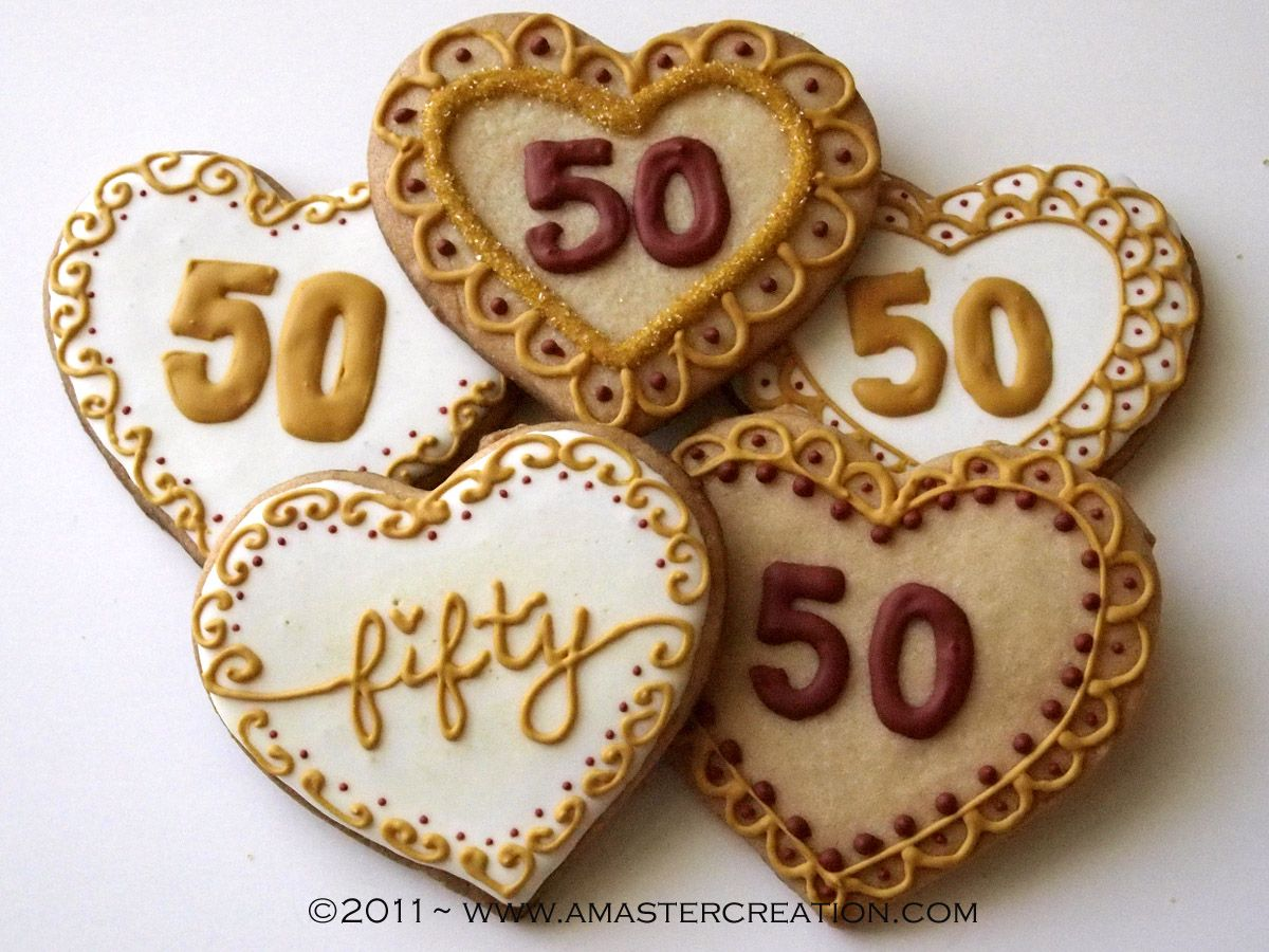 celebrating 50 years anniversary cookies50th wedding