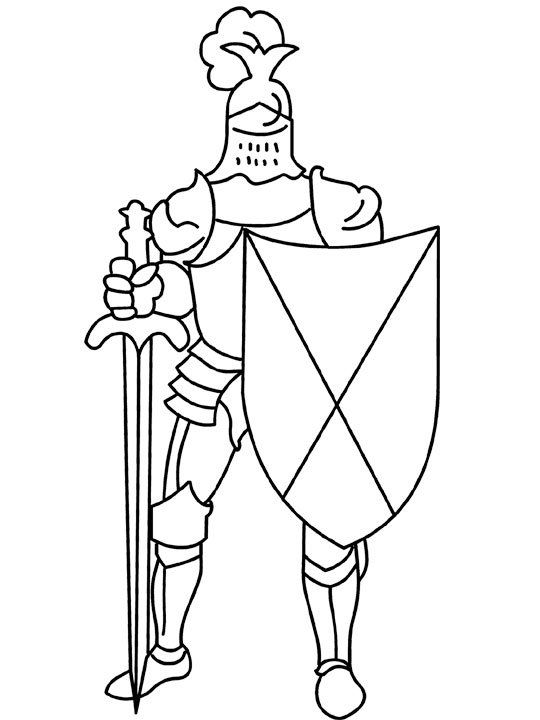 medieval coloring pages for kids - Knight Coloring Pages 2