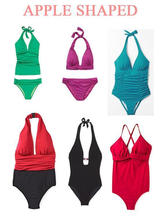 appleshaped bathing suits