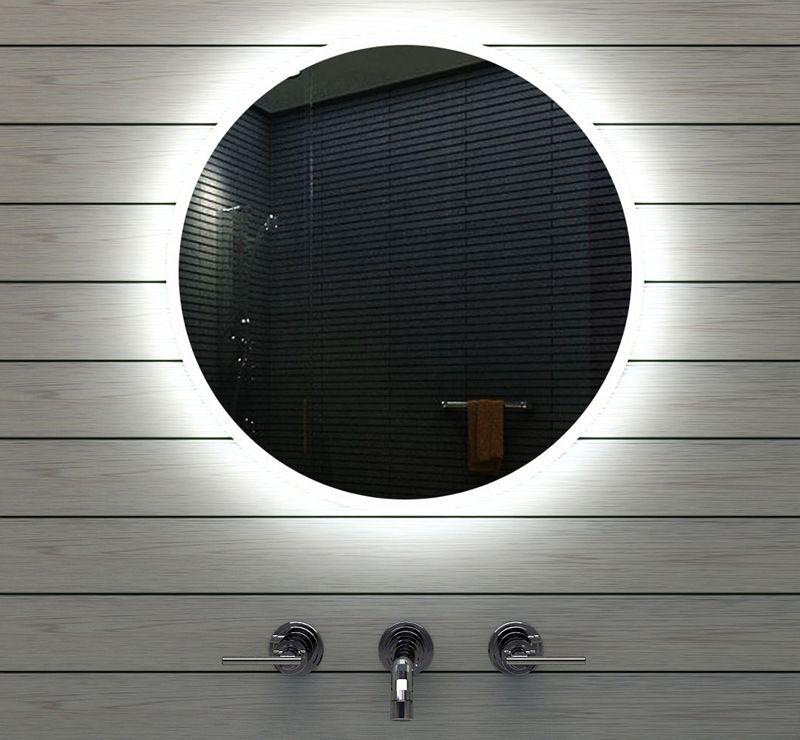Ronde badkamerspiegel met strijklicht badkamer for Verlichting badkamerspiegel