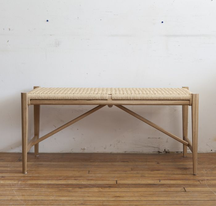Guff Vintage Scandinavian Mid Century Furniture And Accessories Beautifully Hand Crafted White Oak And Danish Paper Cord Bench This Danish Inspir 家具 椅子 チェア