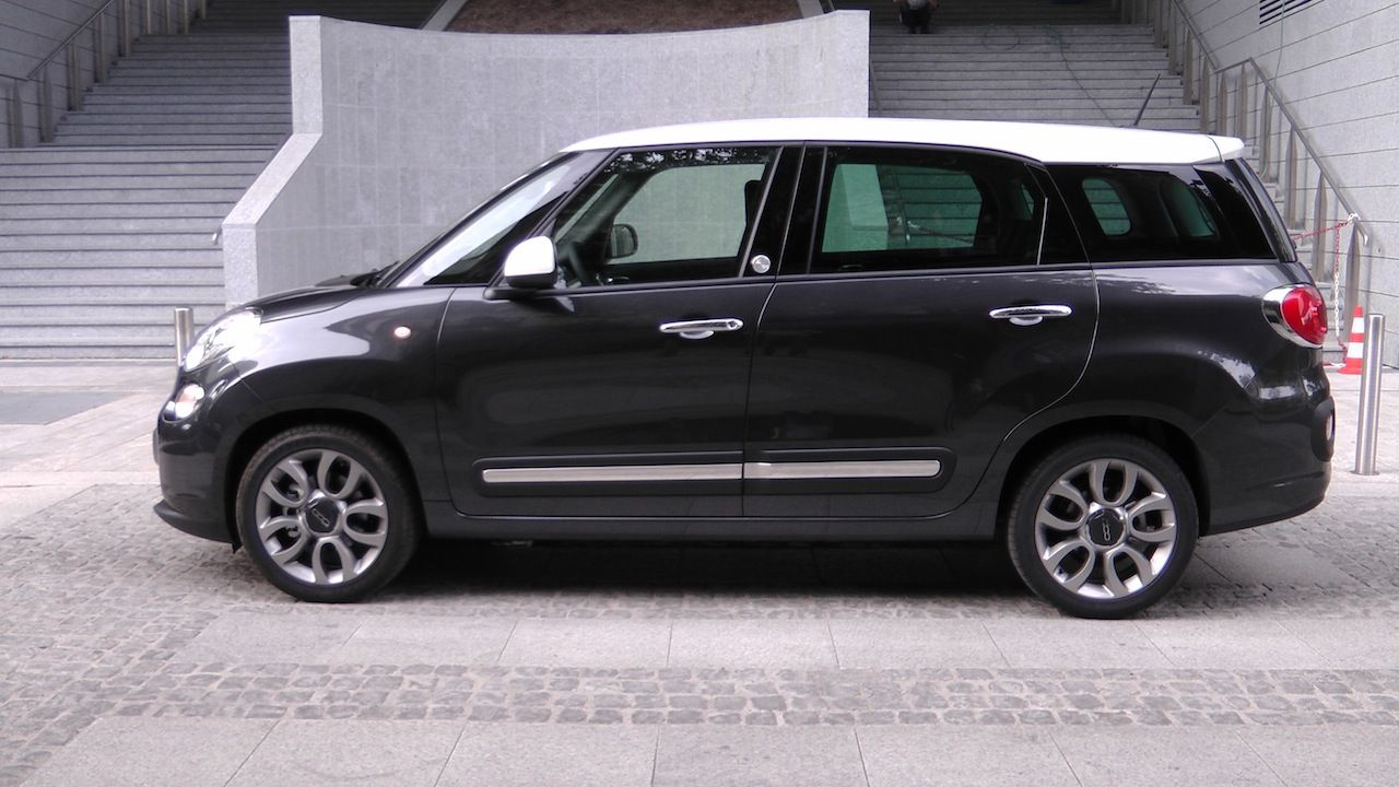 Dark Grey With White Roof Fiat 500l Coches
