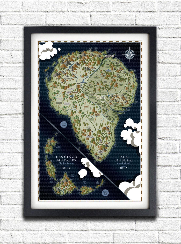 Jurassic Park - Isla Nublar Map - 19x13 Poster | Music posters ...
