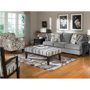 Yvette Steel Stationary Sofa W Loose Seat Cushions By