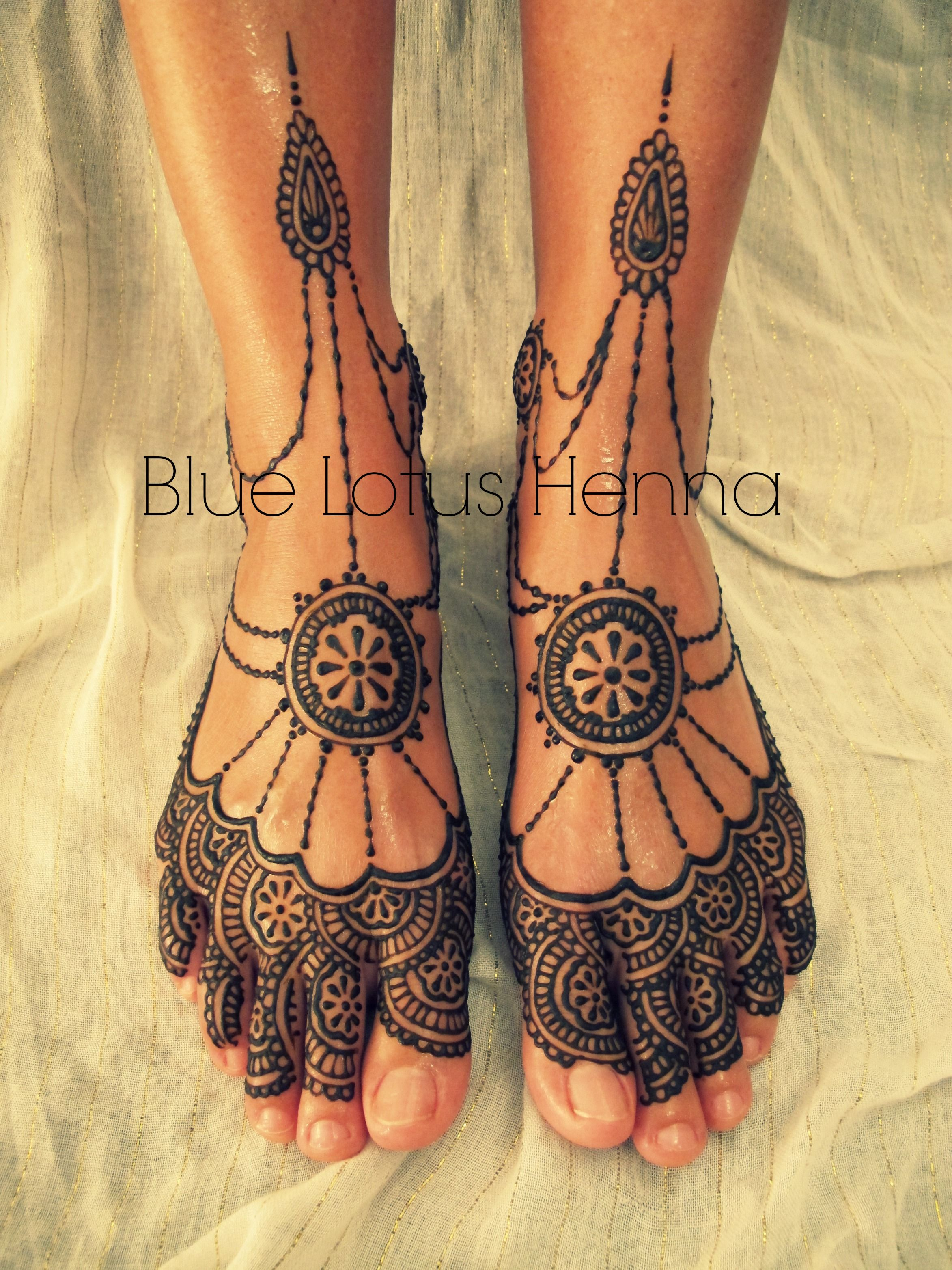 Blue Henna Tattoo: More Beautiful Feet Designs By Blue Lotus Henna