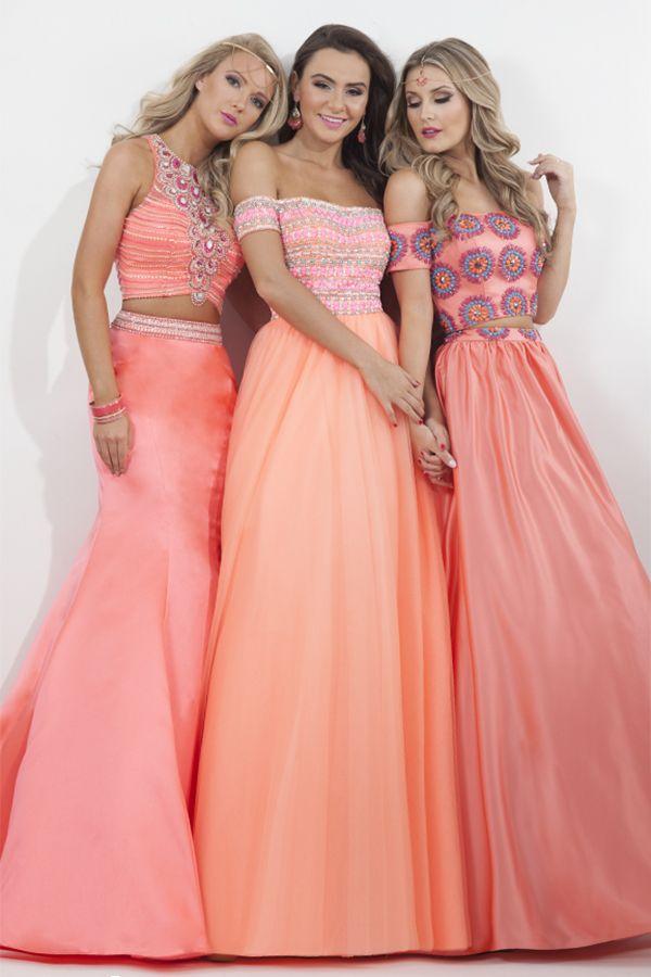 Light peach colored prom dresses