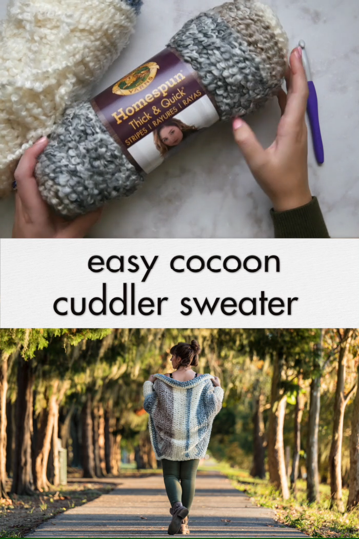 Photo of Crochet Cuddler Cocoon Sweater – free pattern