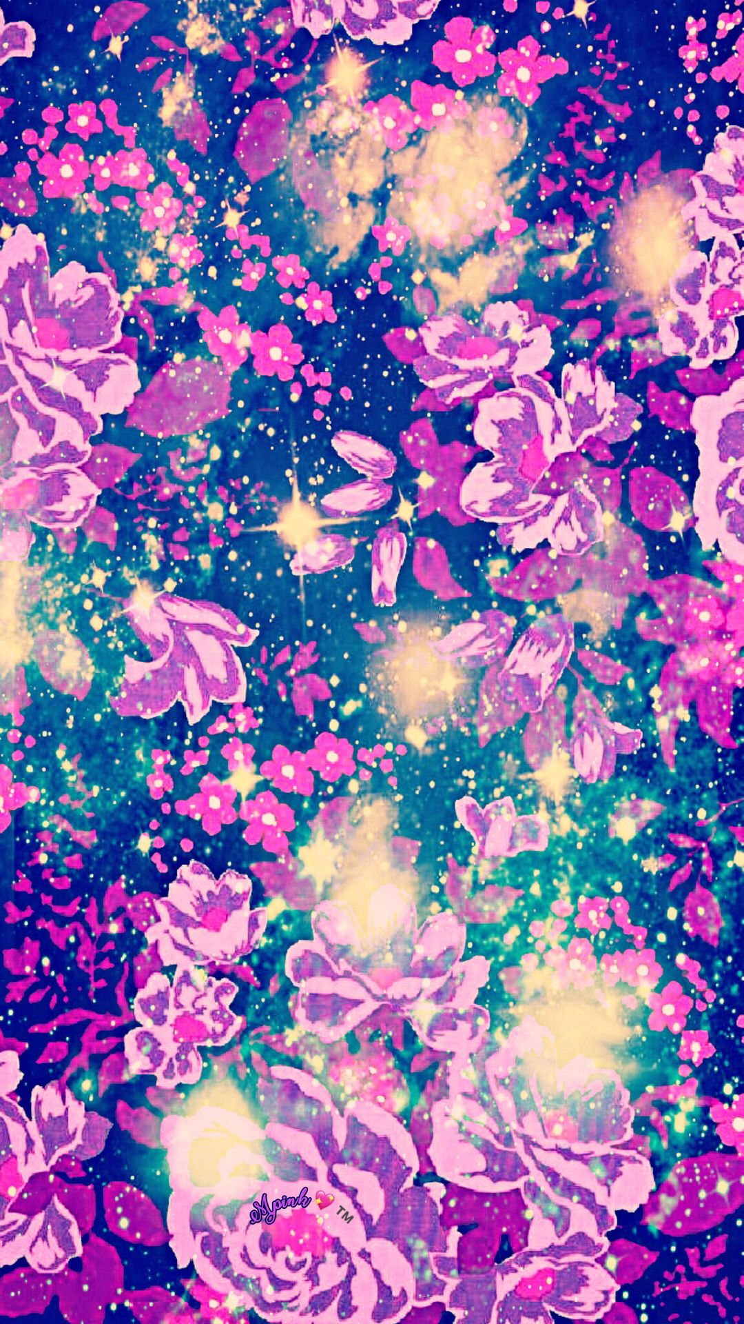 Mystical Flowers Galaxy Wallpaper Androidwallpaper Iphonewallpaper