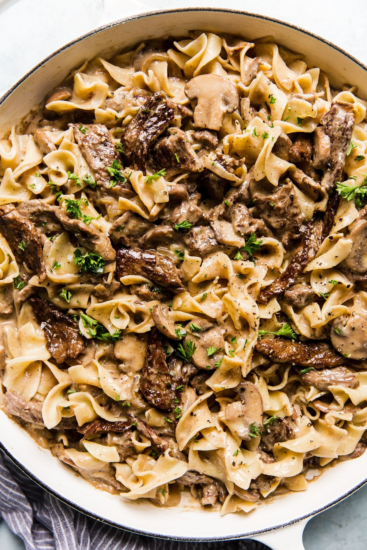 Beef Stroganoff by The Modern Proper || Beef stroganoff is a take-no-prisoners, soul-soothing, household-uniting kind of supper. Just thinking about cooking it feeds the hungriest parts of ourselves. Oh—and it's quick and easy, too.