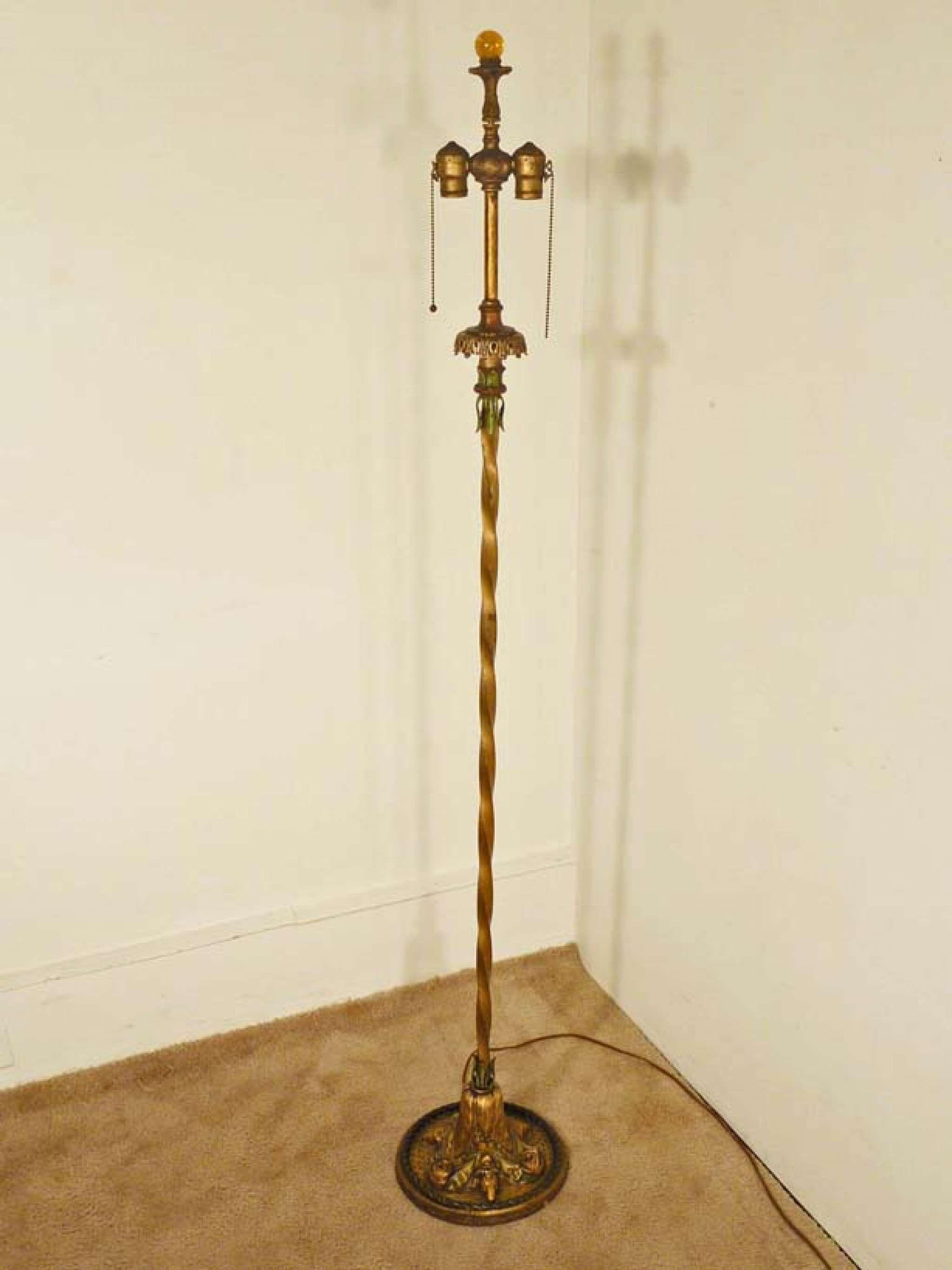 Floor Lamp With Ram 039 S Head Base Circa 1920 1930 S Stock