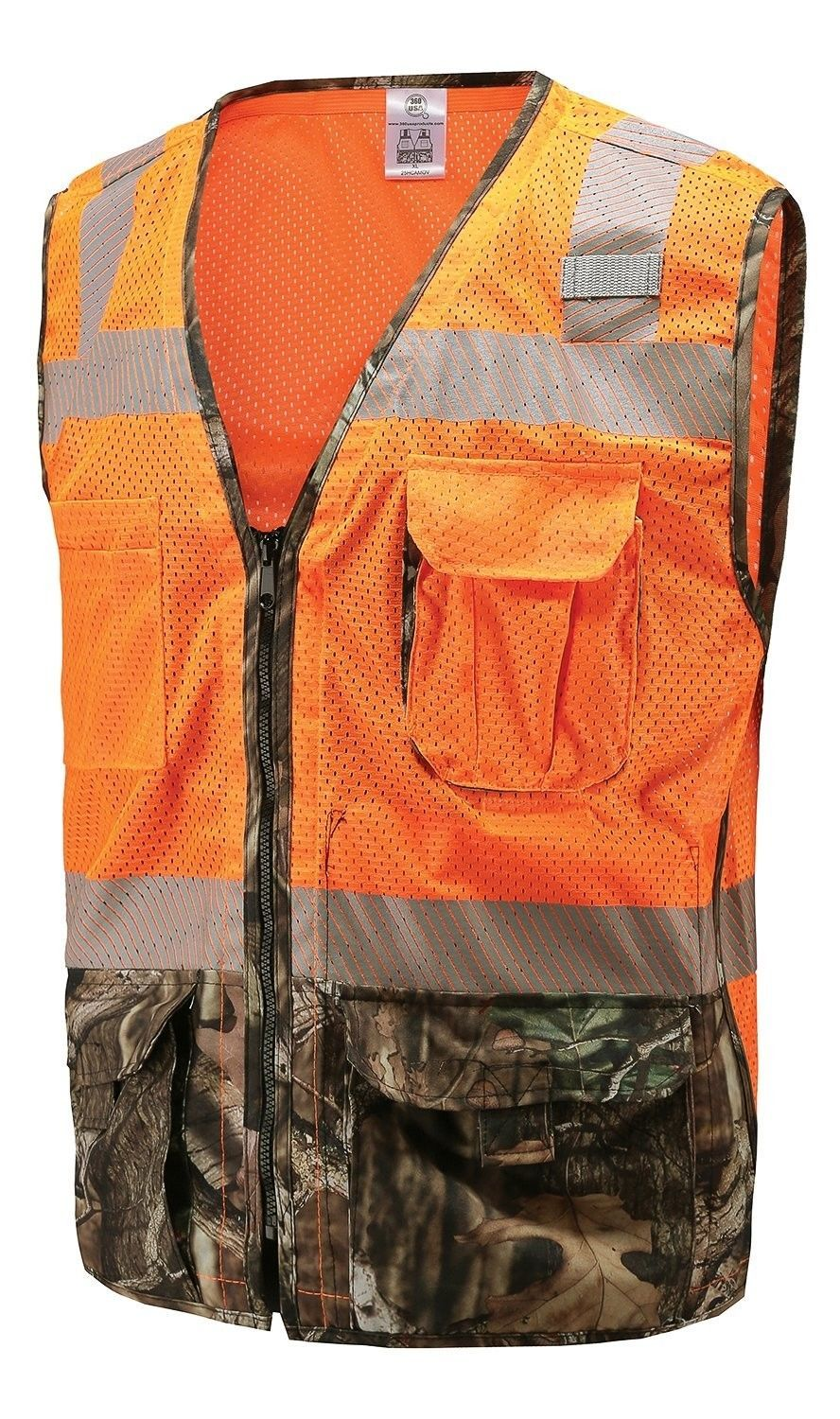 360 USA Sportsman Safety Hunting Vest Blaze Orange and
