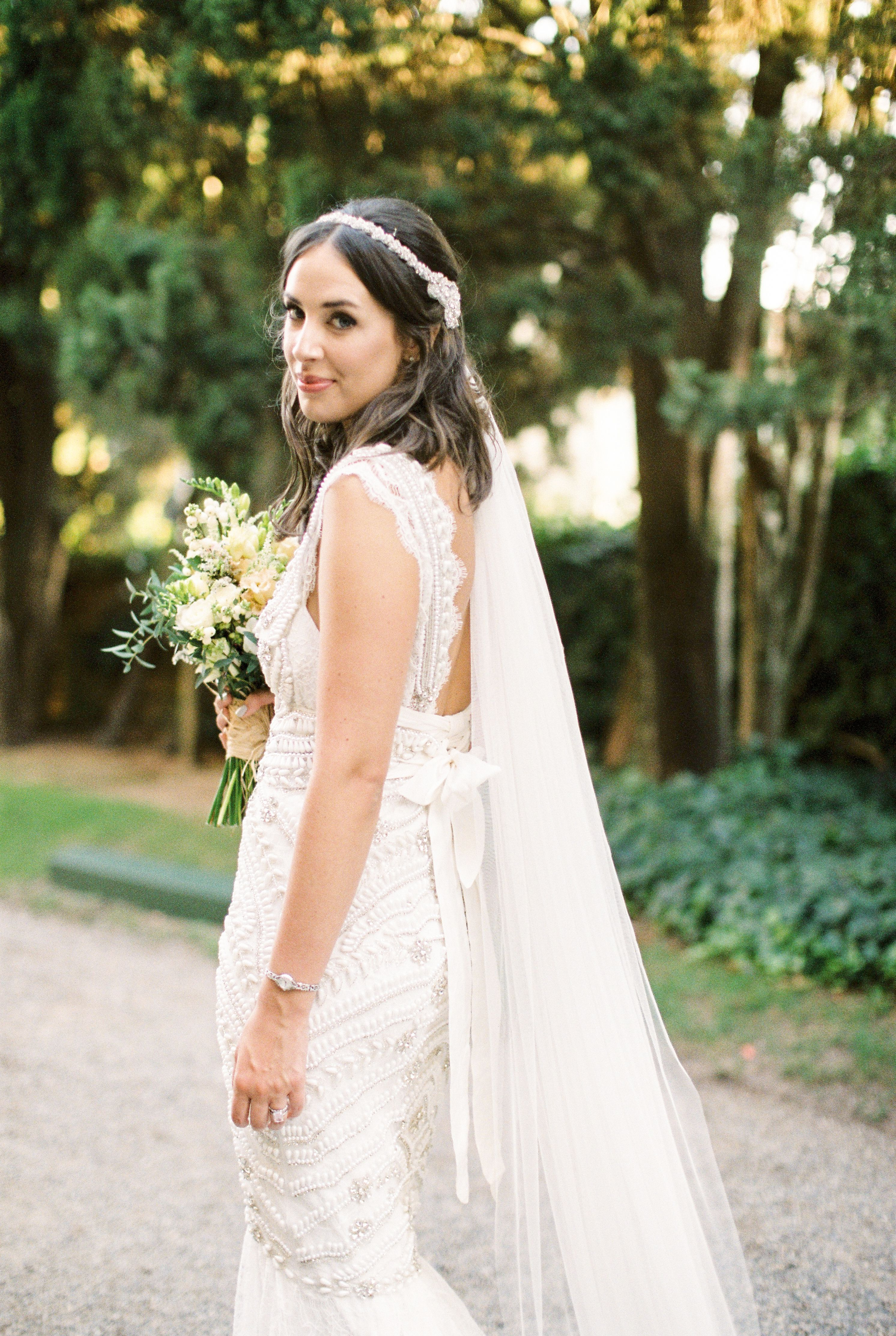 Anna Campbell Vintage Inspired Embellished Coco Wedding Dress | Low ...