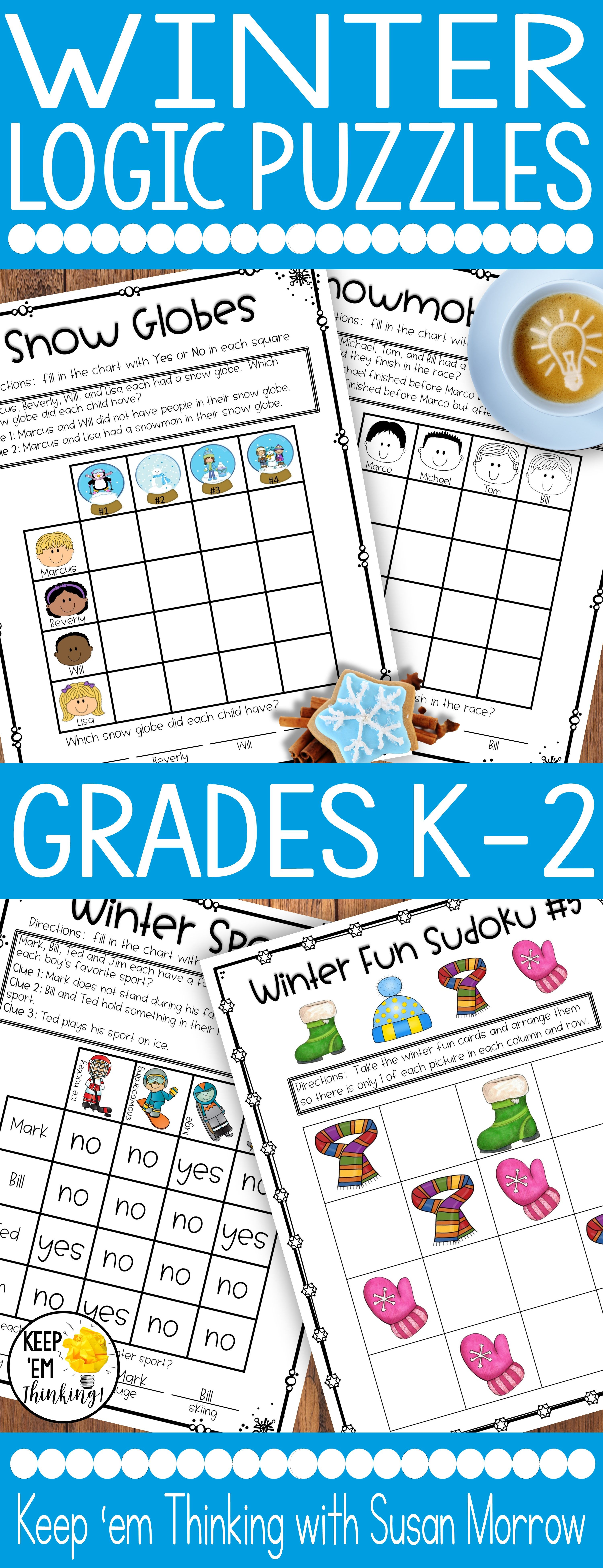 Logic Puzzles Gr 1 3 Beginning Logic Puzzles With A