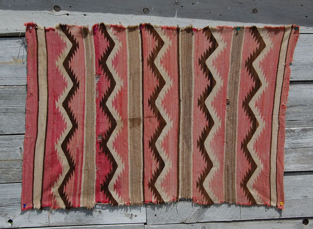 1900 CHURRO SERAPE WEARING BLANKET NAVAJO rug Native American Wool Ranchfolks NR