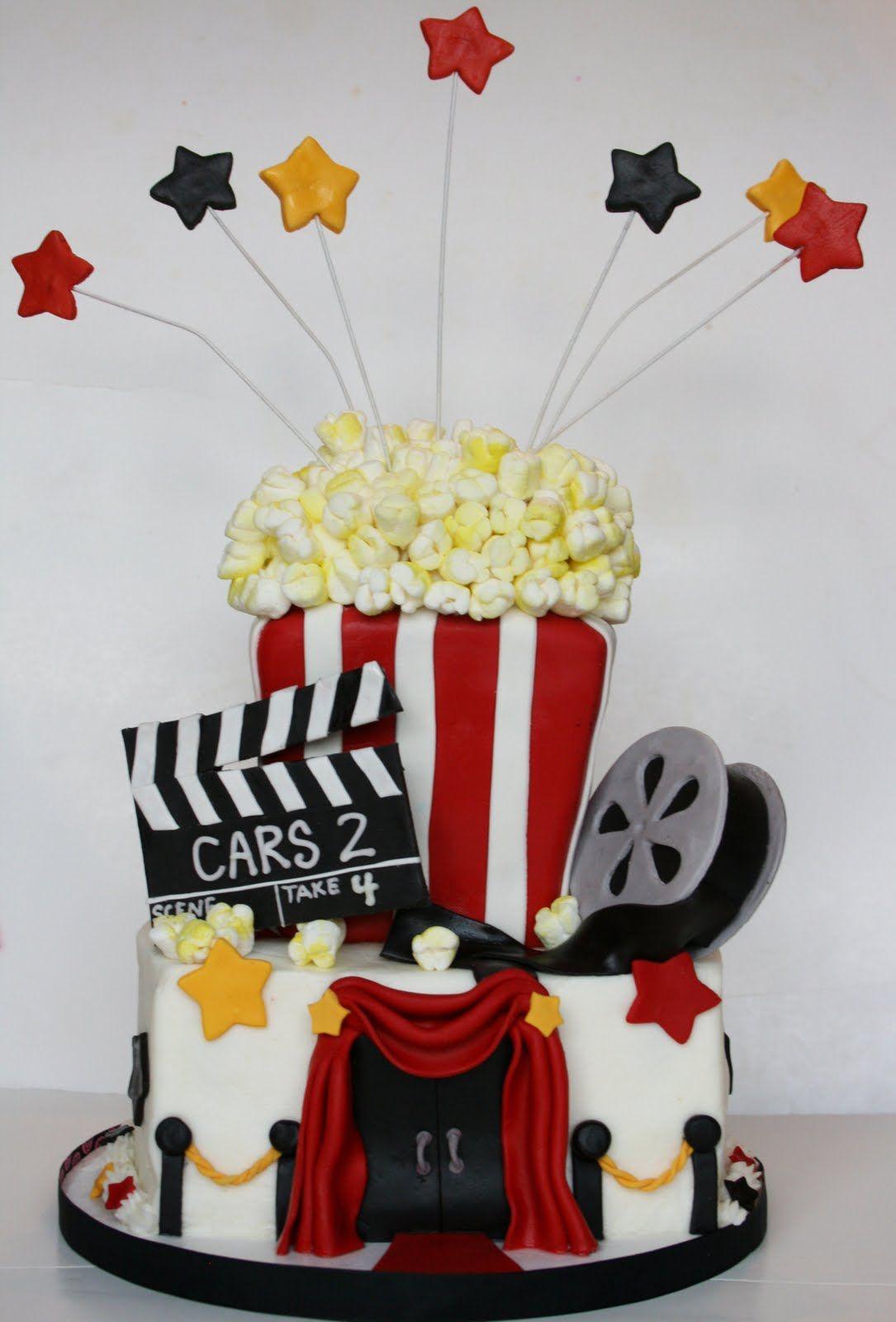 Movie Night Cake With Images Movie Cakes Movie Birthday Party