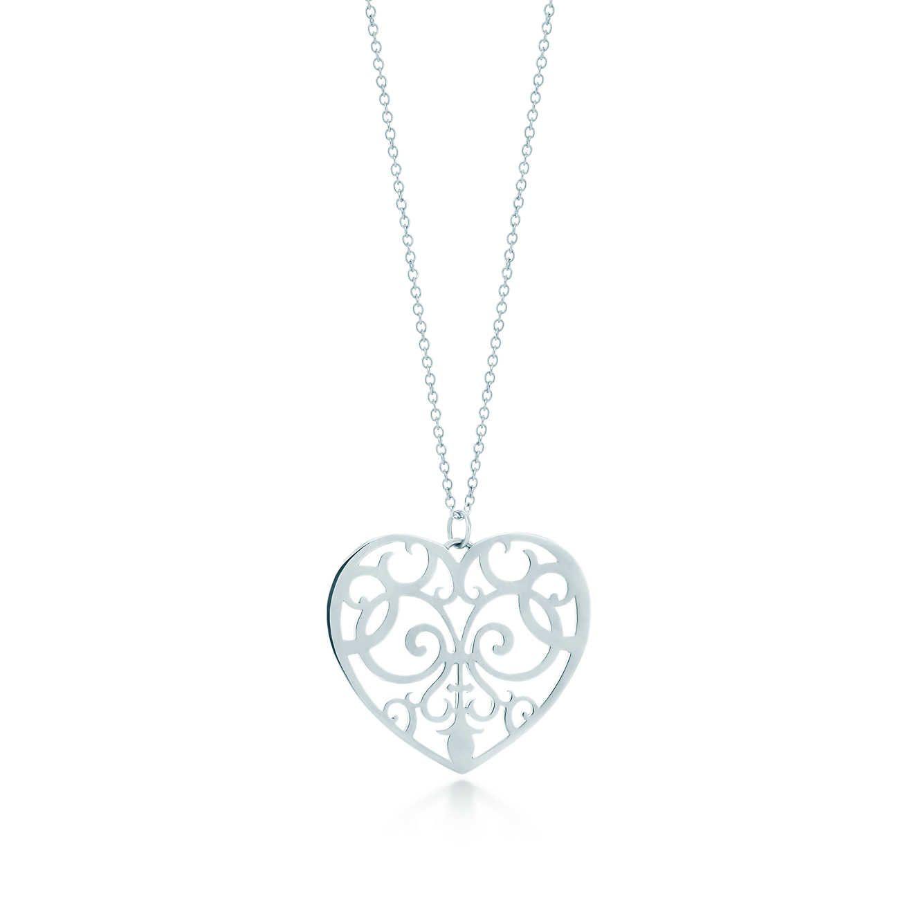 Tiffany enchant heart pendant in sterling silver medium its so tiffany enchant heart pendant in sterling silver medium aloadofball Image collections