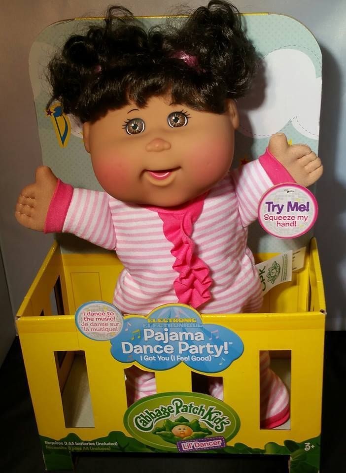 New Cabbage Patch Kids Lil Dancer Pajama Party Dancing Singing Baby Doll