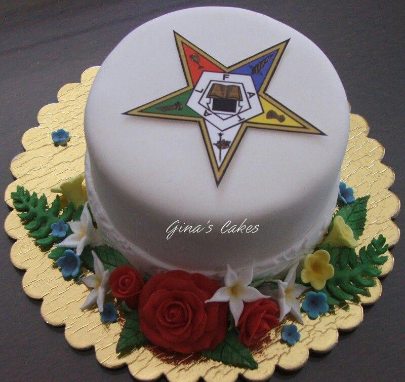 Oes Cake Order Of Eastern Star Oes Pinterest Eastern Star