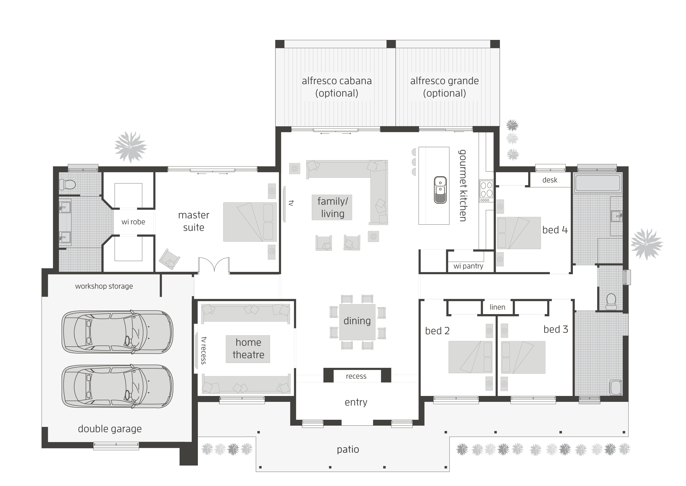 acreage-home-designs-mcdonald-jones-woodlandsmanor-sidegarage-lhs ...