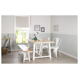 Brilliant Buy Portobello Trestle Bench White Bleached Pine From Our Gmtry Best Dining Table And Chair Ideas Images Gmtryco
